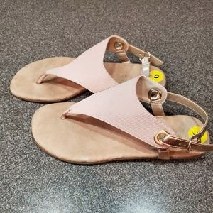 Aerosole Pale Pink and Rose Gold Sandals